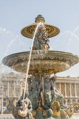 La Fontaine des Fleuves fountain at Place de la Concord, Paris.
