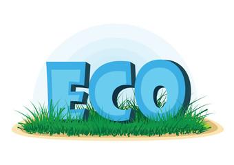 Eco vector illustration, world ecology