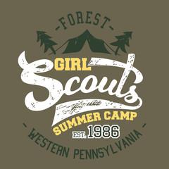 Girl Scouts summer camp t-shirt design