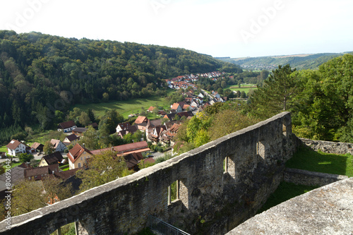 Leinwanddruck Bild Schlossruine Forchtenberg