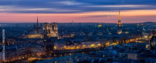 Foto op Aluminium Parijs Paris depuis Bastille