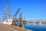 Fototapeta Sailing ship in port of Gdynia, Poland.