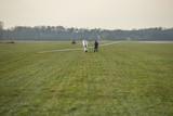 Glider on an airfield near the German-Dutch border