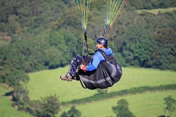 paraglider over Dartmoor