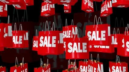 Sale and percent inscription concepts on black
