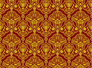 Oriental Pattern with Detailed Decoration