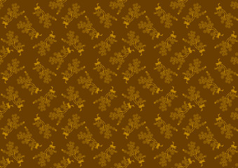 Decorative Flower Pattern - Blossoming Branches