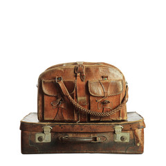 old suitcase in retro style