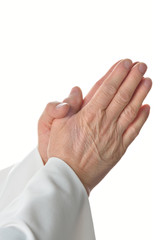 mani che pregano