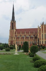 ancient church in Gervyaty in Belarus