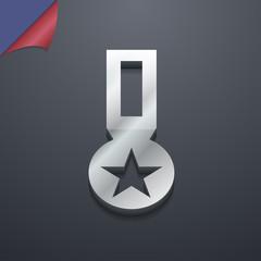 Award, Medal of Honor icon symbol. 3D style. Trendy, modern desi