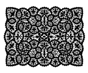 Black lace doily