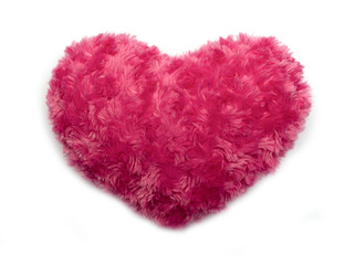 Fluffy heart isolated on white background