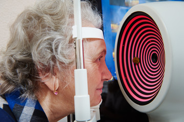 eyesight examinations at ophthalmology clinic