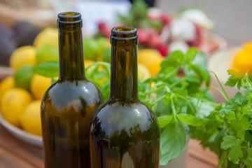 mediterranean diet, wine and vegetables