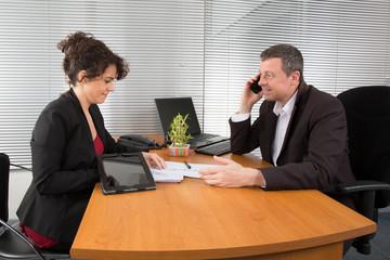Executive businessman working