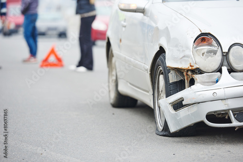 road crash collision in urban street - 80697865