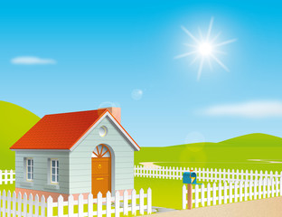 House at a sunny day