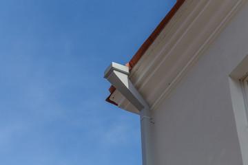 Metal roof gutter