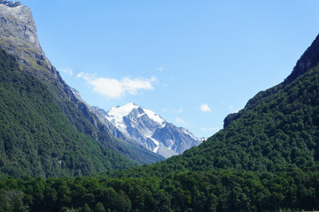 Southern Alps from Dart River on Rees Track