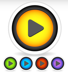 Stylish Play Buttons for Multimedia Concepts