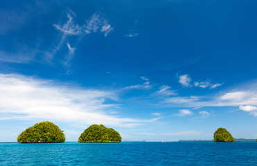 Limestone islands in Palau