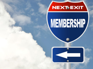 Membership road sign