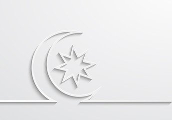 Vector modern ramadan background design.