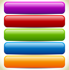 Colorful Button / Banner Backgrounds with Glossy Effect and Empt
