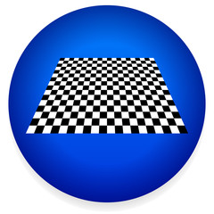 Simple Icon with Checkered Plane - Checkerboard, Chess Board Pat