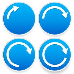 Circular arrows, 1/4, 1/2, 3/4 and full circles - Blue arrow sig