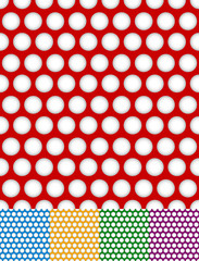 Polka dot, dotted backgrounds. Repeatable patterns with circles
