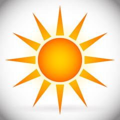 Orange Sun Vector Graphics