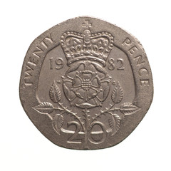 Twenty pence coin