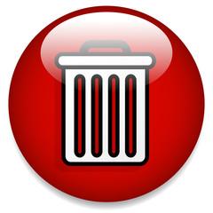 Trash Can Button / Icon