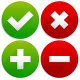 Simple Checkmark, Cross and Plus, Minus Signs / Icons