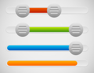 Slider / Adjuster UI Elements With Knobs and Loading, Progress B