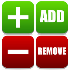 Add and Remove Buttons with Labels and symbols