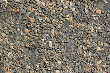 Asphalt road surface close-up