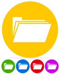 Simple Icon w/ Folder Symbol in several colors