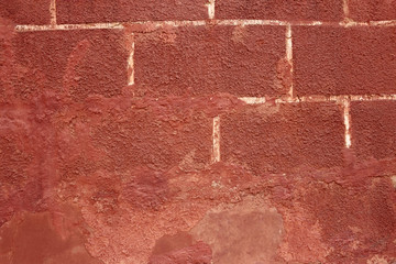 Old red shelled wall