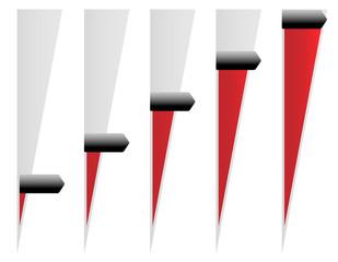 Vertical Adjusters, Sliders. Adjust Opacity Mask to Set Levels
