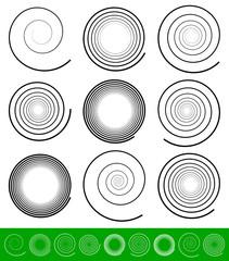 Vector Spiral Set