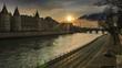 paris - france, eiffel tower, night, river seine,