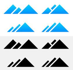 Mountain Peak Symbols