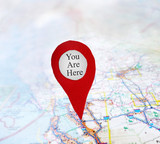 You Are Here red map locator