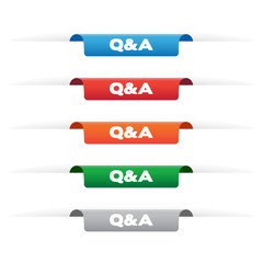 Q&A paper tag labels