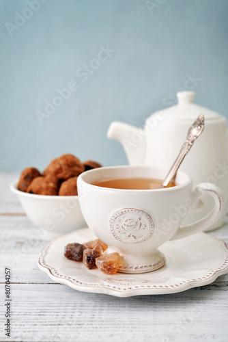 Foto op Canvas Koffie Cup of tea