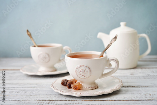 Tuinposter Koffie Cup of tea