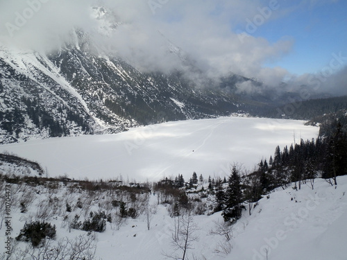 frozen lake morskie oko © jimboscar